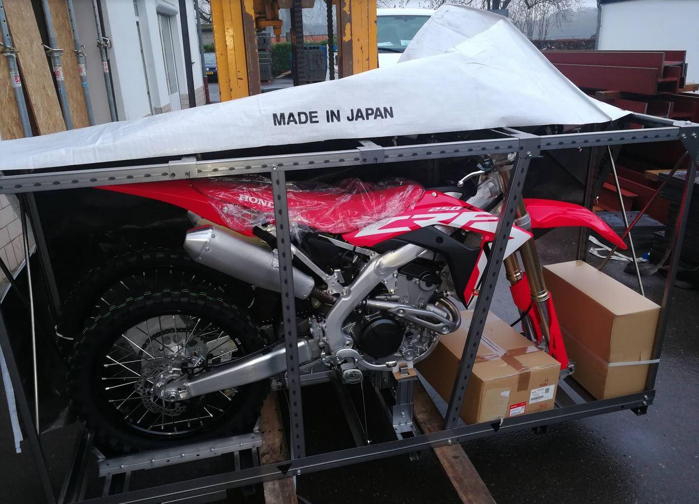 emxtrade vente motos de cross en caisse crf250 2019. Black Bedroom Furniture Sets. Home Design Ideas